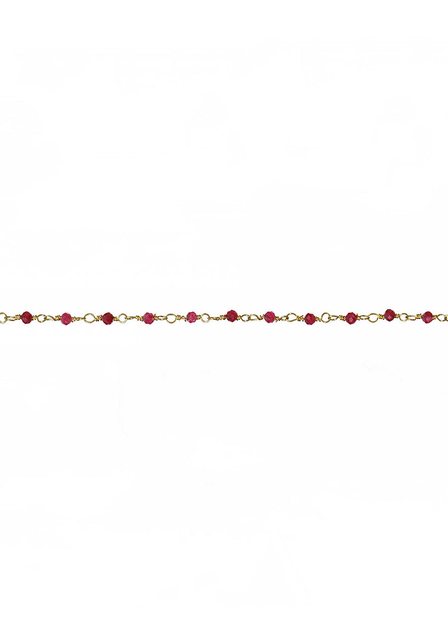 18K Gold Plated Chain Bracelet Raspberry