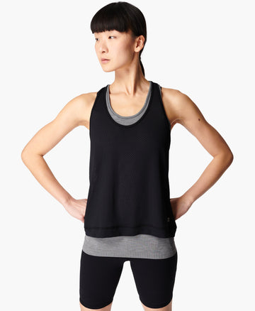 Double Time 2 In 1 Workout Ves Charcoal-Grey