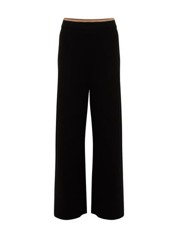 Naomi Knitted Trouser Black-Camel