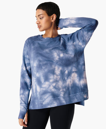 After Class Sweatshirt Blue-Tie-Dye