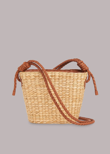Lyra Mini Straw Tote Neutral