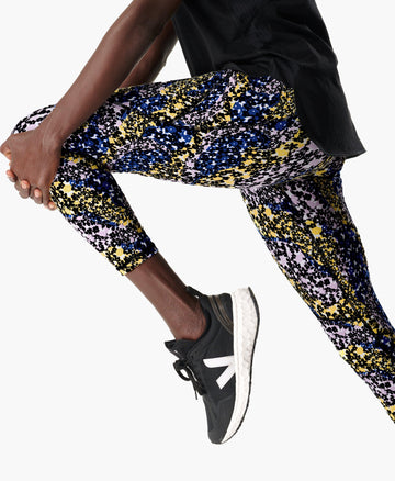 Power 7/8 Workout Leggings Blue-Flower-Stream-P