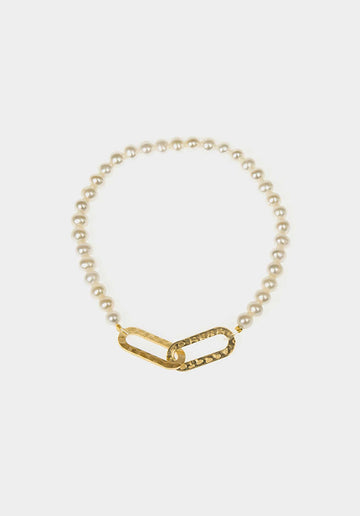 Wallis 24K Gold-plated Maxi Pearl Bracelet Metal