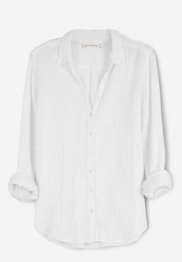 'Beau' Cotton Shirt White