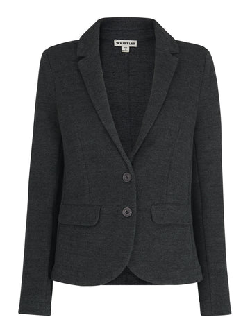 Slim Jersey Jacket Dark-Grey