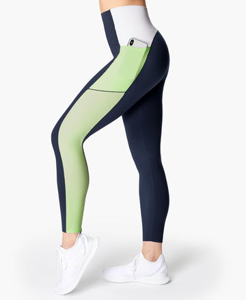 Power High Waist Workout Leggi Navy-Blue