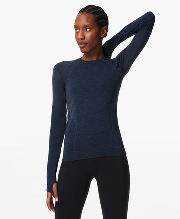 Athlete Seamless Workout Top Navy-Blue