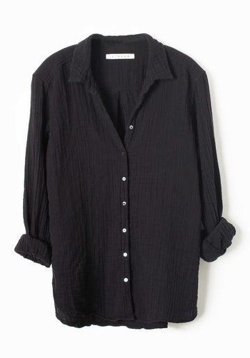 'Beau' Cotton Shirt Black