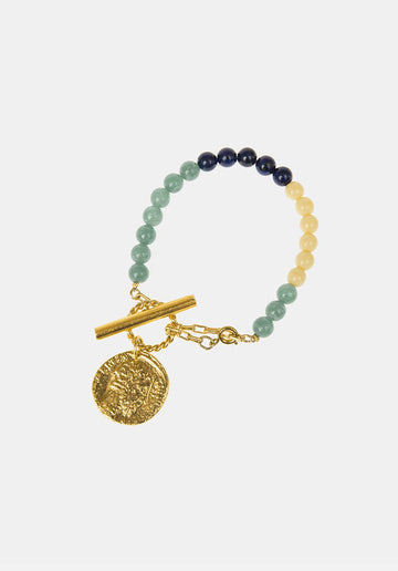 Wonderwall 24K Gold Green Bracelet Metal