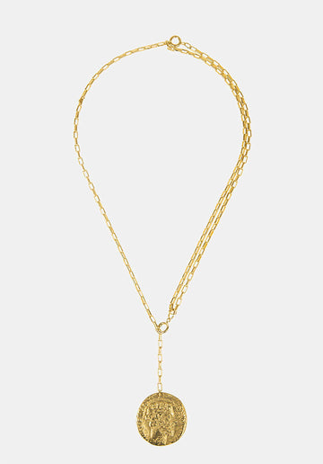 William 24K Gold-plated Pendant Necklace Metal
