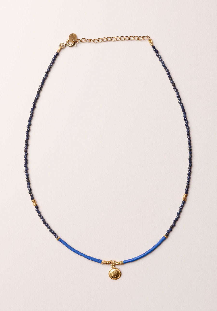 18K Gold Plated  Pendant Necklace Howlite