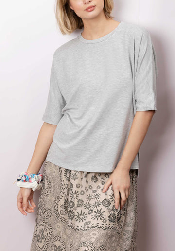 Round Neck T-shirt Light-Heather-Grey