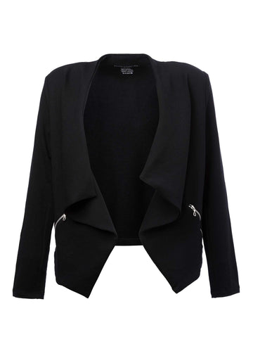Waterfall Knitted Jacket Black