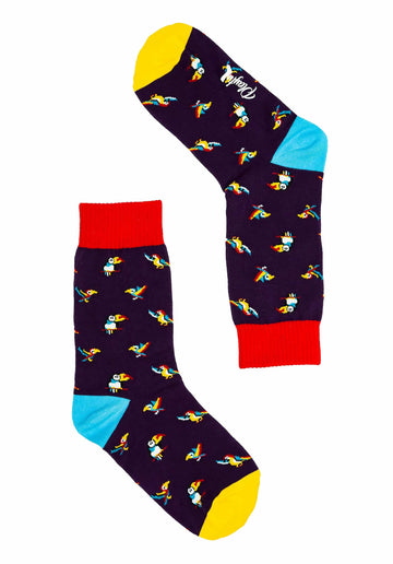 Party Parrot Socks Purple