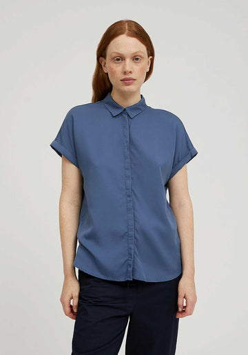 Short Sleeves Shirt Foggy-Blue