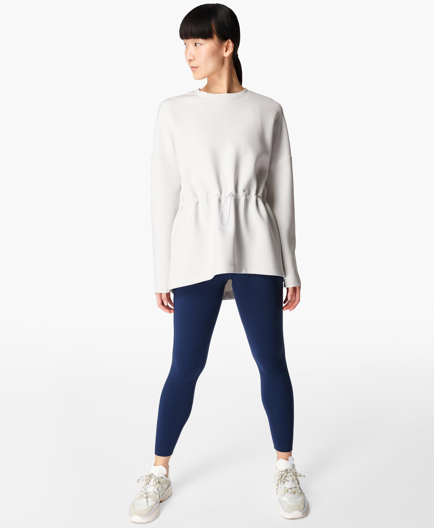 Grace Scuba Sweatshirt Lily-White