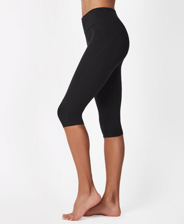 All Day Crop Leggings Black