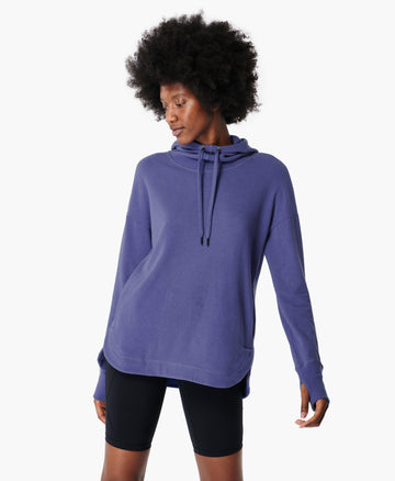 Escape Luxe Fleece Hoody Cornflower-Blue
