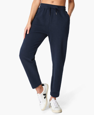 Essentials Taper Trouser Navy-Blue