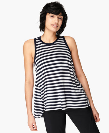 Easy Peazy Vest Navy-White-Stripe