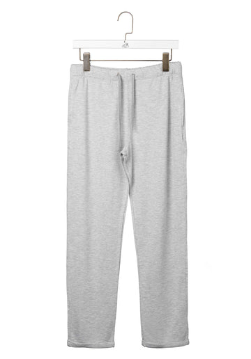 Drawstring Sweatpants Light-Leather-Grey