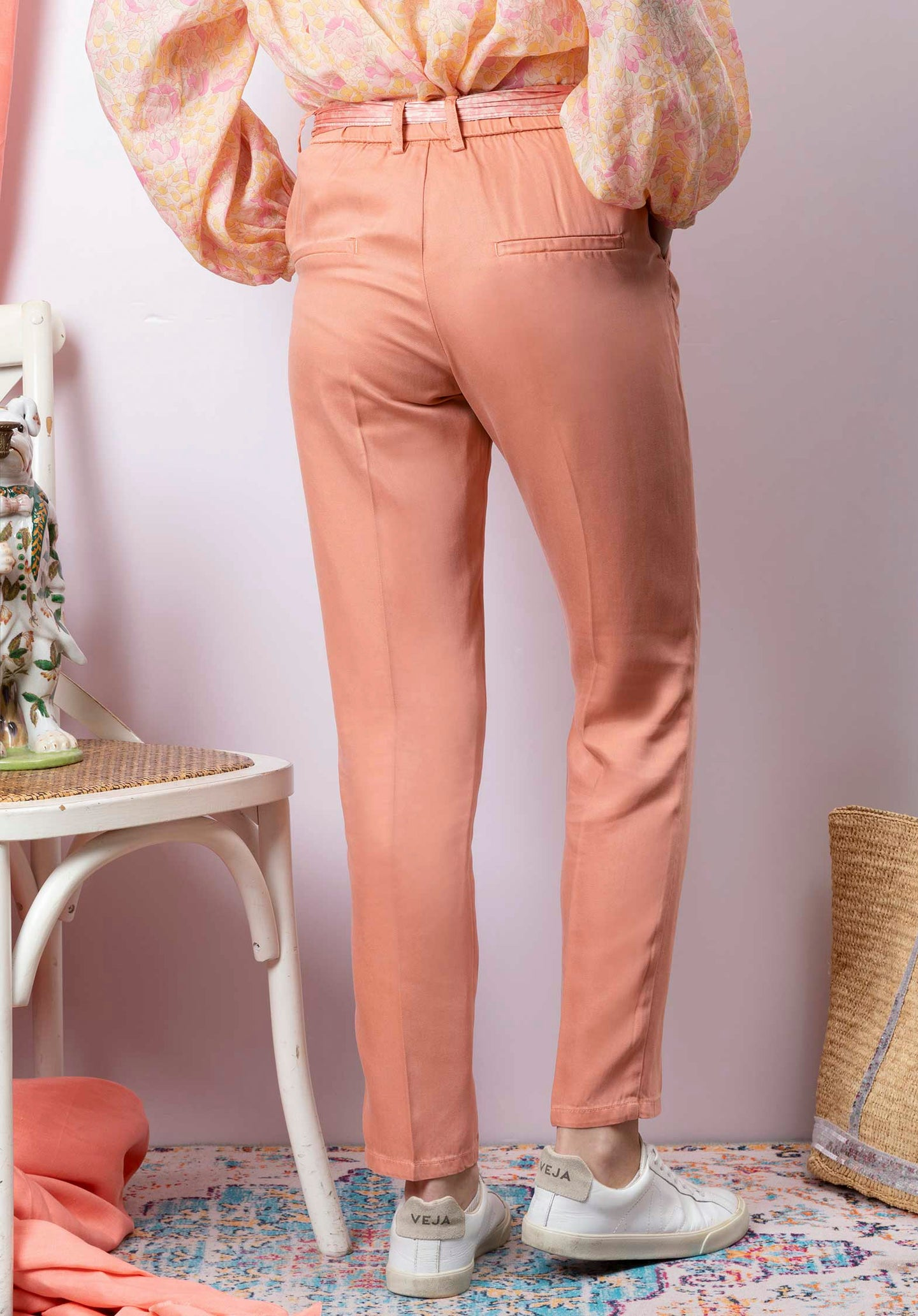 Cropped Straight Leg Chinos Goyave