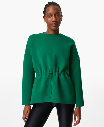 Grace Crew Neck Sweatshirt Jewel-Green