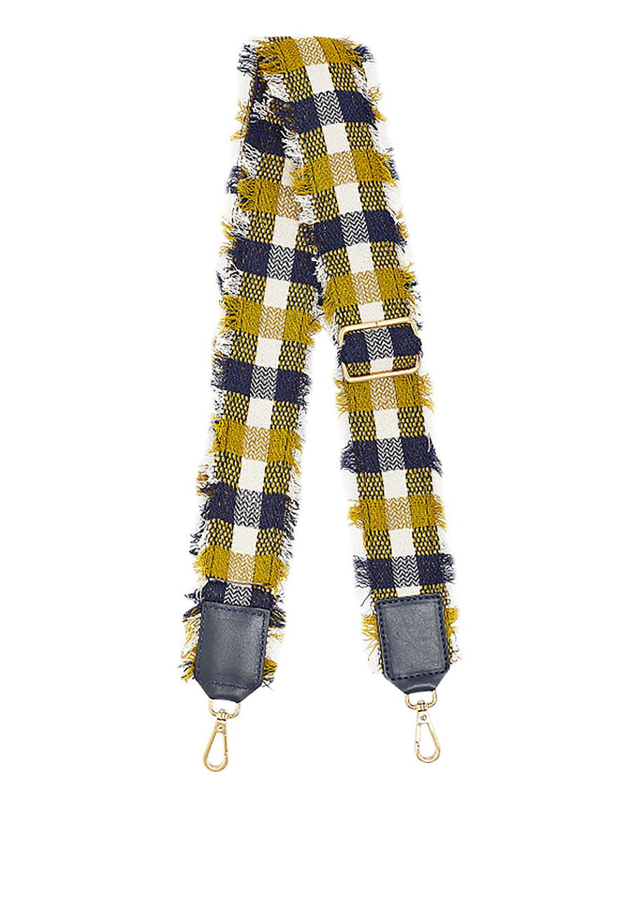 Fringed Checks Strap Yellow
