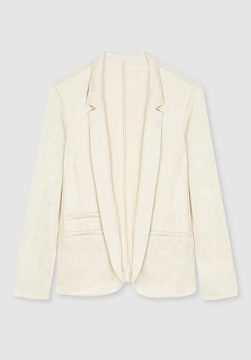 Linen Blend Knitted Jacket Sand