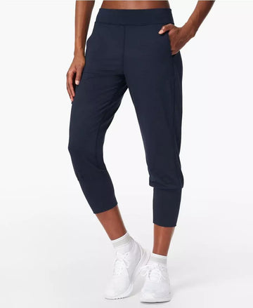 Gary Yoga Capris Navy-Blue