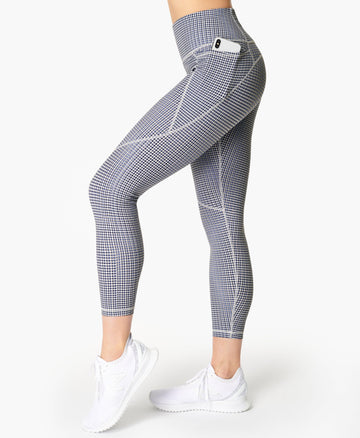 Power 7/8 Workout Leggings Blue-Sb-Move-Print