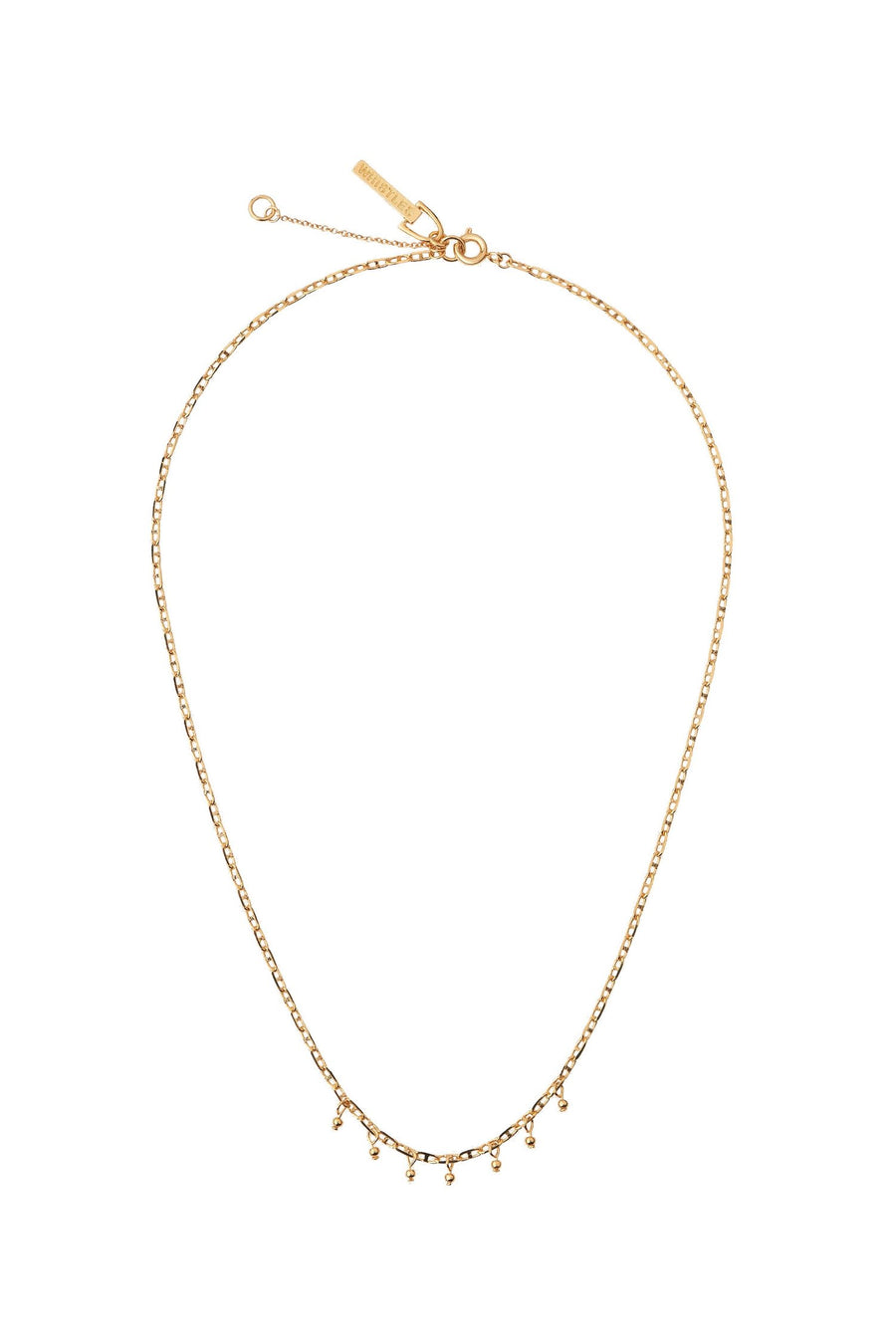 Seed Bead Chain Necklace Gold-Multi
