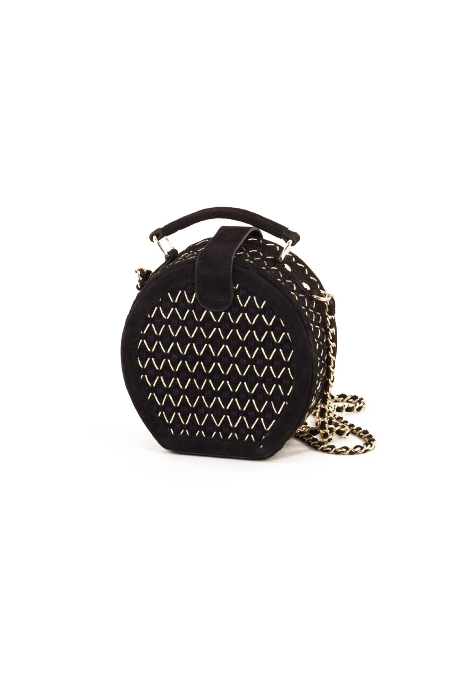 Round Leather Sling Bag Nighty