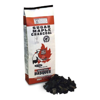 Basques Sugar Maple Charcoal 17.6 Pound Bag - Bourlier's Barbecue and Fireplace