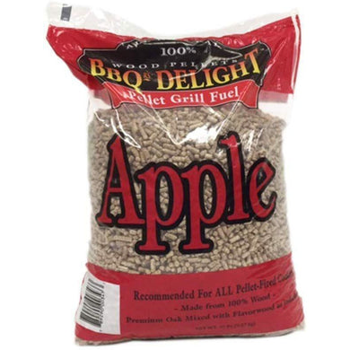 BBQR's Delight Apple Flavor Wood Smoking Pellets 20 pounds - Bourlier's Barbecue and Fireplace