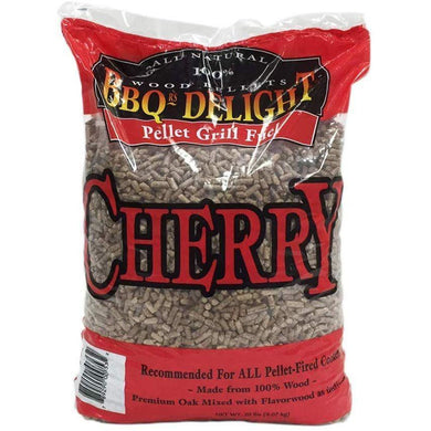BBQR's Delight Smoking BBQ Cherry Pellets Bag of 20 Pounds - Bourlier's Barbecue and Fireplace