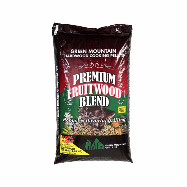 Green Mountain Grills Premium Fruitwood Blend Pellets 28 LB BAG GMG-2003 - Bourlier's Barbecue and Fireplace