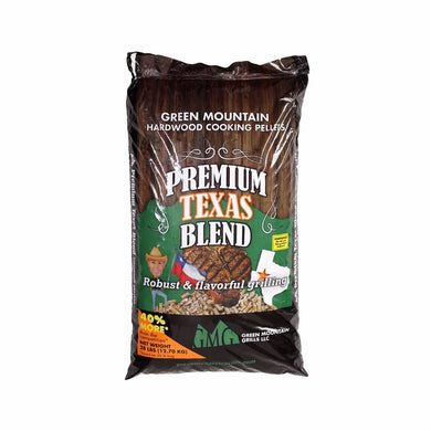 Green Mountain Grills Premium Texas Blend Pellets 28 LB BAG - GMG-2004 - Bourlier's Barbecue and Fireplace