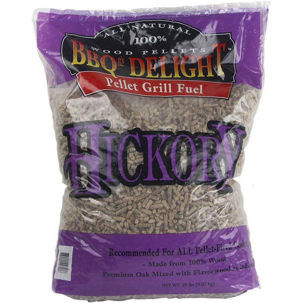 Hickory Flavor BBQR's Delight Smoking BBQ Pellets 20 Pounds - Bourlier's Barbecue and Fireplace