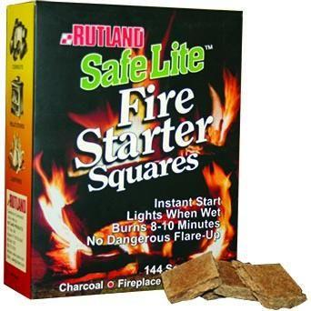Rutland 50B Safe Lite Fire Starter Squares, 144 Squares - Bourlier's Barbecue and Fireplace