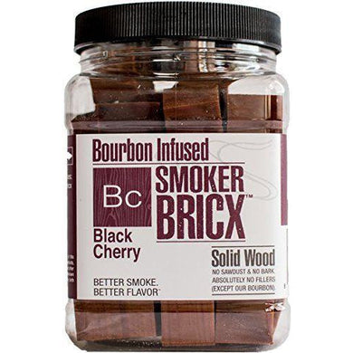 Smoker Bricx Bourbon Infused Black Cherry BBQ Smoking Chunks 32oz - Bourlier's Barbecue and Fireplace