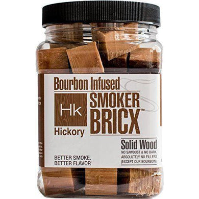 Smoker Bricx Bourbon Infused Hickory BBQ Smoking Chunks 32oz - Bourlier's Barbecue and Fireplace