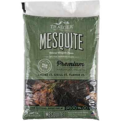 Traeger PEL305 Mesquite Pellets 20 LB Bag - Bourlier's Barbecue and Fireplace