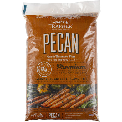 Traeger PEL314 Pecan Pellets 20 LB Bag - Bourlier's Barbecue and Fireplace
