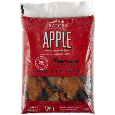 Traeger PEL318 Apple Pellets 20LB Bag - Bourlier's Barbecue and Fireplace