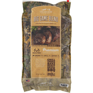 Traeger PEL320 Realtree #33 Big Game Blend Pellets 33 LB Bag - Bourlier's Barbecue and Fireplace