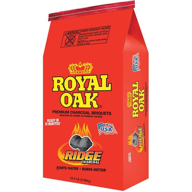 ROYAL OAK 192-294-021 Charcoal Briquettes, 15.4 lb Bag - Bourlier's Barbecue and Fireplace
