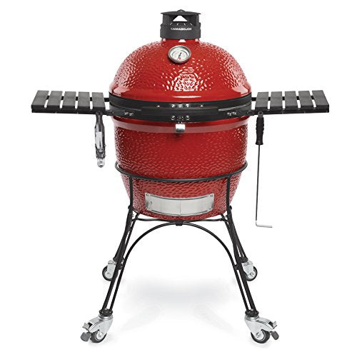 "Kamado Joe Classic II, 18"" Blaze Red On Cart - Bourlier's Barbecue and Fireplace"