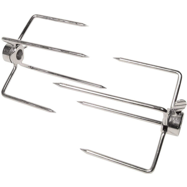 GrillPro 60120 Universal Replacement Rotisserie Meat Forks for 3/8-IN Spit Rod (2 Pack)