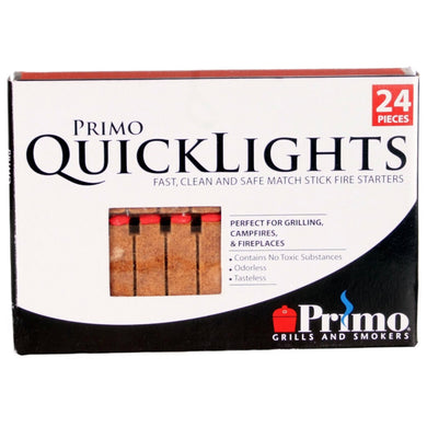 Primo (609) Quick Lights, 24 Pieces Firestarters - Bourlier's Barbecue and Fireplace